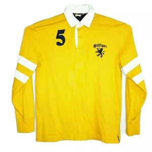 Tommy Hilfiger Mens Small Yellow Rugby Polo Shirt